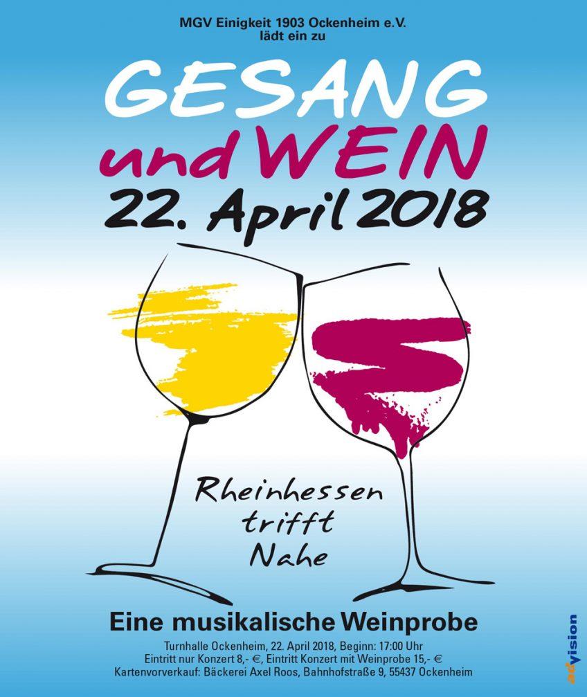 Gesang und Wein 2018 Anzeige